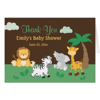 Carte de remerciements de baby shower de garçon de