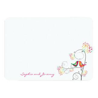 Carte de remerciements de baiser lunatique carton d'invitation  12,7 cm x 17,78 cm