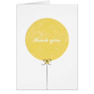 Carte de remerciements de ballon - citron