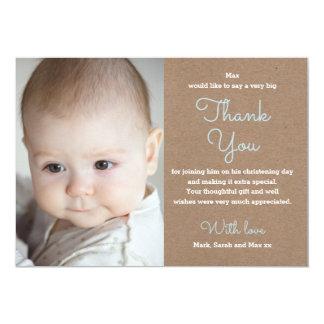 Carte de remerciements de baptême/baptême de