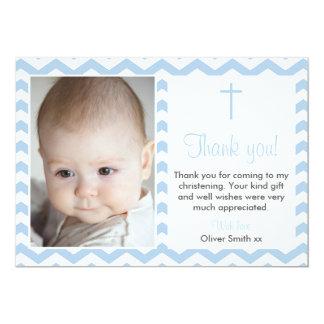 Carte de remerciements de baptême/baptême de carton d'invitation  12,7 cm x 17,78 cm