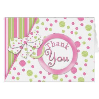 Carte de remerciements de bébé de mod
