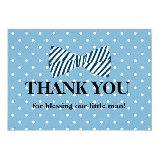 Carte de remerciements de bébé, petite cravate