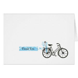 Carte de remerciements de bicyclette