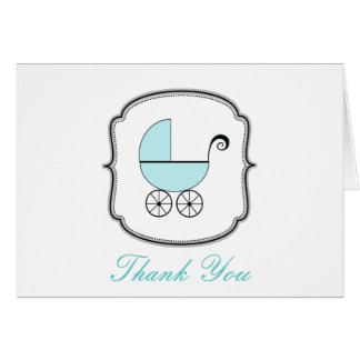 Carte de remerciements de boguet de bébé
