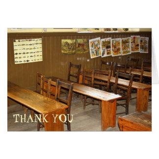 Carte de remerciements de bureaux et de chaises
