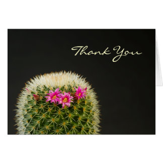Carte de remerciements de cactus