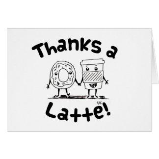 Carte de remerciements de café et de beignet