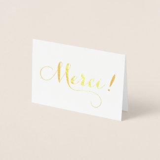 Carte de remerciements de calligraphie de la