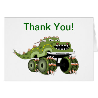 Carte de remerciements de camion de monstre de