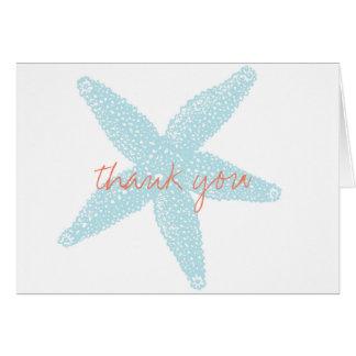 Carte de remerciements de carte de note d'étoiles