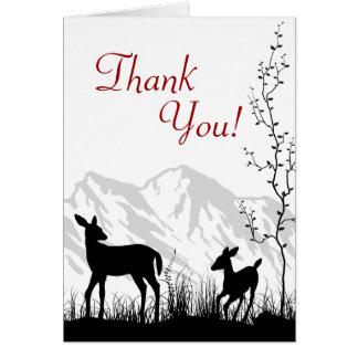 Carte de remerciements de cerfs communs et de