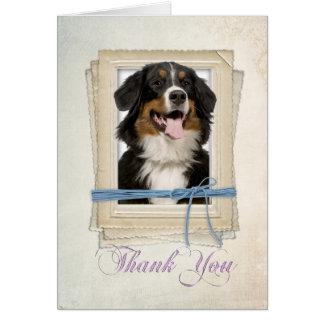 Carte de remerciements de chien de montagne de