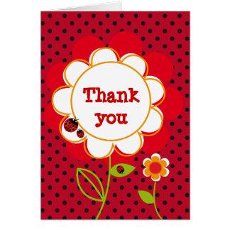 Carte de remerciements de coccinelle