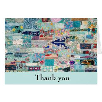 Carte de remerciements de conception d'Aqua et