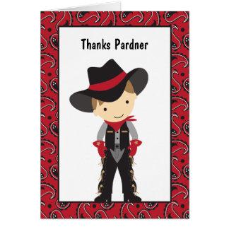 Carte de remerciements de cowboy