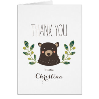Carte de remerciements de CUB d'ours