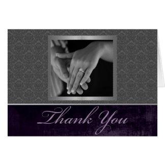 Carte de remerciements de damassé