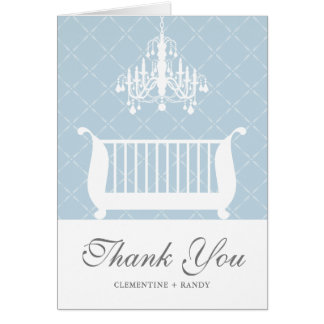 Carte de remerciements de douche de bébé de huche