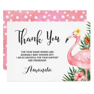 Carte de remerciements de flamant de Flamingle