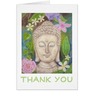 Carte de remerciements de fleur de Bouddha