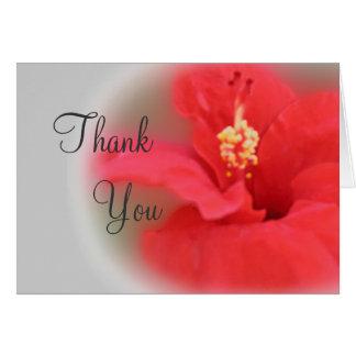 Carte de remerciements de fleur de ketmie