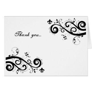 carte de remerciements de fleur de lis