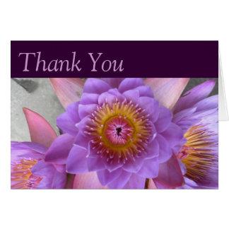 Carte de remerciements de fleur de Lotus