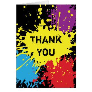 Carte de remerciements de floc de Paintball