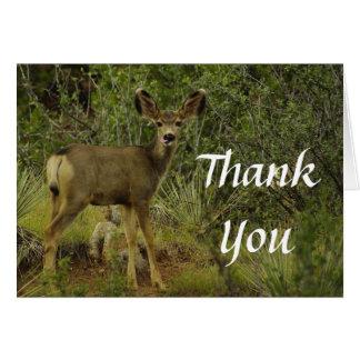 Carte de remerciements de framboise de cerfs