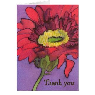 Carte de remerciements de Gerbera