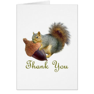 Carte de remerciements de gland d'écureuil