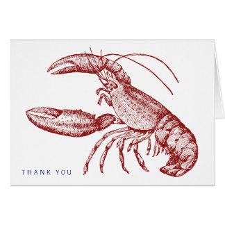Carte de remerciements de homard