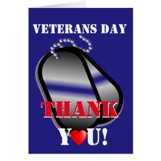 Carte de remerciements de jour de vétérans