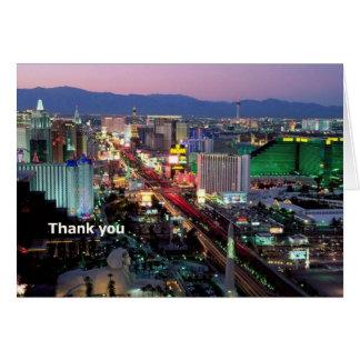 Carte de remerciements de Las Vegas