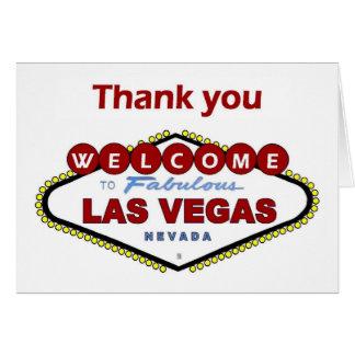 Carte de remerciements de Las Vegas. NOUVELLE