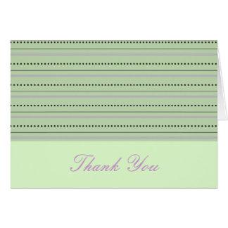 Carte de remerciements de lavande et de chaux
