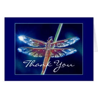 Carte de remerciements de libellule d'imaginaire