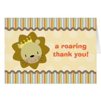 Carte de remerciements de lion