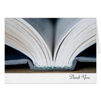 Carte de remerciements de livre
