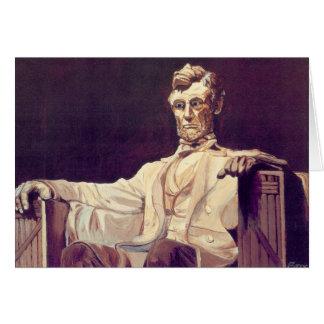 Carte de remerciements de M. Lincoln Looks Down