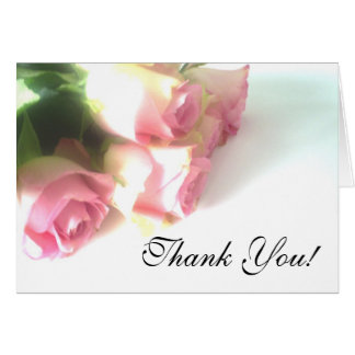 Carte de remerciements de mariage avec des fleurs