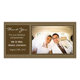 Carte de remerciements de mariage carte avec photo