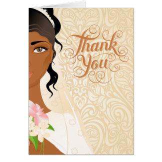 Carte de remerciements de mariage d'Afro-américain