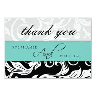 Carte de remerciements de mariage d'Aqua Carton D'invitation 8,89 Cm X 12,70 Cm