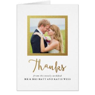 Carte de remerciements de mariage de cadre de