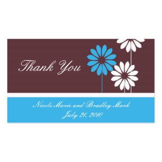 Carte de remerciements de mariage de marguerite de carte de visite standard