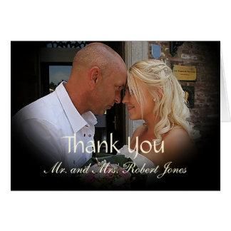 Carte de remerciements de mariage de photo