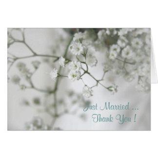 Carte de remerciements de mariage de pureté