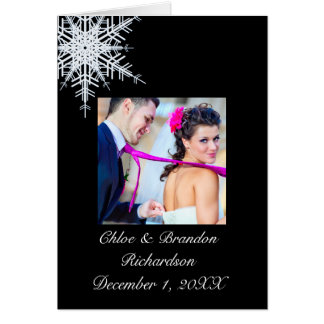 Carte de remerciements de mariage d'hiver